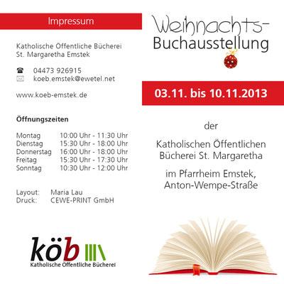 Flyer zur Buchausstellung 2013