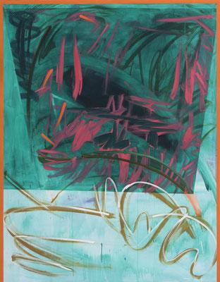 OT (das Grüne), 2018, acrylic on canvas, 200 x 150 cm