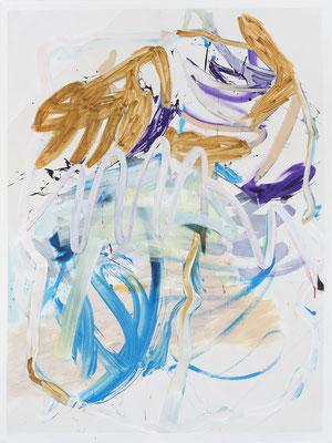 OT (das Weiße), 2018, acrylic on canvas, 200 x 150 cm