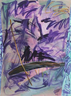 OT (lot of purple), 2018, acrylic on canvas, 200 x 150 cm