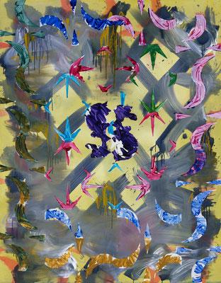 P.A.O.IV, 2019, acrylic on canvas, 200 x 150 cm