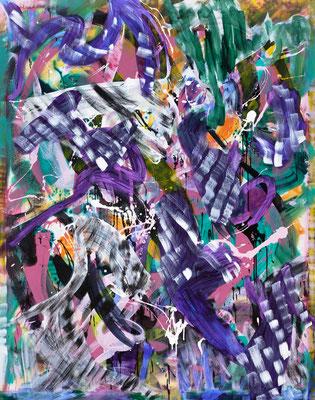RE1 (Unicorner), 2020, acrylic on canvas, 190 x 150 cm