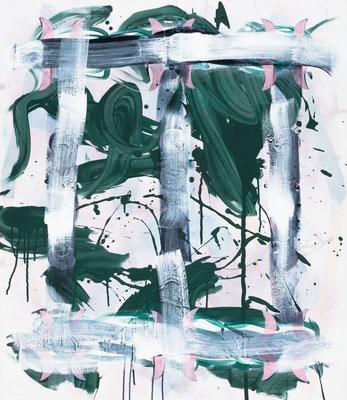 No Pony, 2019, acrylic on canvas, 110 x 95 cm
