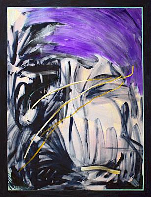 OT (das Schwarze), 2018, acrylic on canvas, 200 x 150 cm