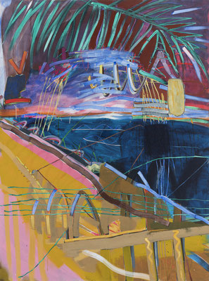 Untitled, 2017, acrylic on canvas, 200 x 150 cm