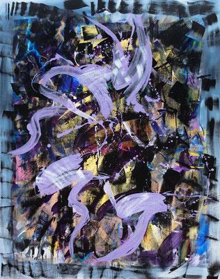 RE4 (Slipper), 2020, acrylic on canvas, 190 x 150 cm