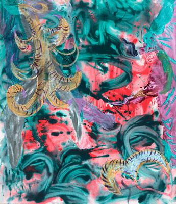 CAP.rgy, 2019, acrylic on canvas, 110 x 95 cm