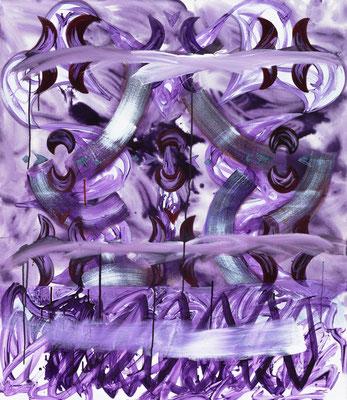 OT (violett), 2019, acrylic on canvas, 110 x 95 cm