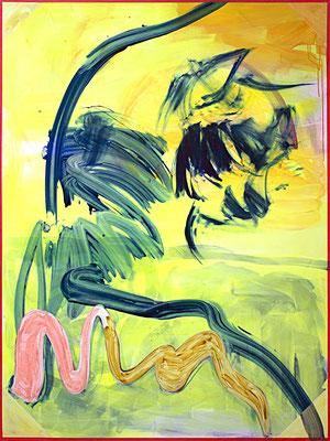 OT (das Gelbe), 2018, acrylic on canvas, 200 x 150 cm