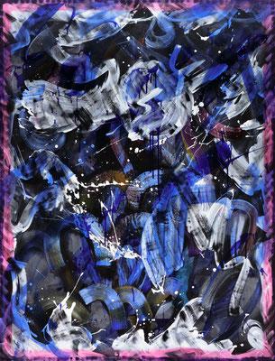 RE5 (B-Weather), 2020, acrylic on canvas, 170 x 130 cm