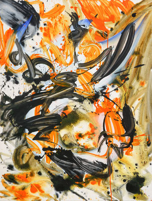 Ora Luxedo, 2021, acrylic on canvas, 125 x 95 cm