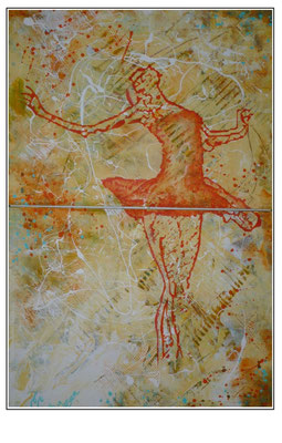 'Dance with me #2' Size: 83x123x3