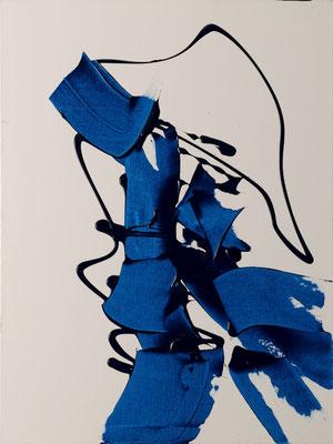 "Abstrakte Frau 5, 60x80 cm, 23,6""x31,5"""