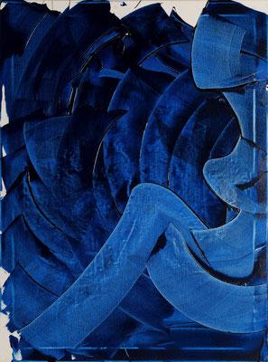 """Blaue Träume, 60x80 cm, 23,6""""x31,5"""""""