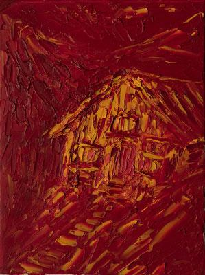 """Die Berghütte, 30x40 cm, 11,8""""x15,7"""""""
