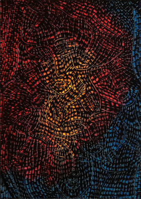 "Leuchtend, Papier, 29,7 x 42 cm, 11,7""x16,5"""