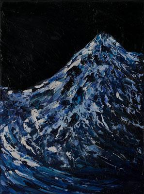 """Gletscher und Berg, 30x40 cm, 11,8""""x15,7"""""""