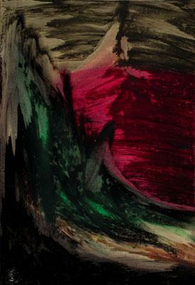 """Berge und Waldwelt, Papier, 29,7 x 42 cm, 11,7""""x16,5"""""""