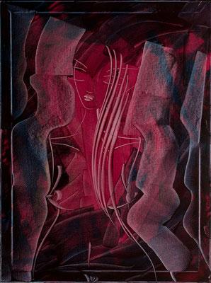 """Schmerzende Leidenschaft, 60x80 cm, 23,6""""x31,5"""""""