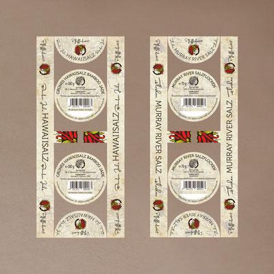 Etiketten für Gewürzdosen mit Sichtfenster – inkl. Illustrationen & Logodesign