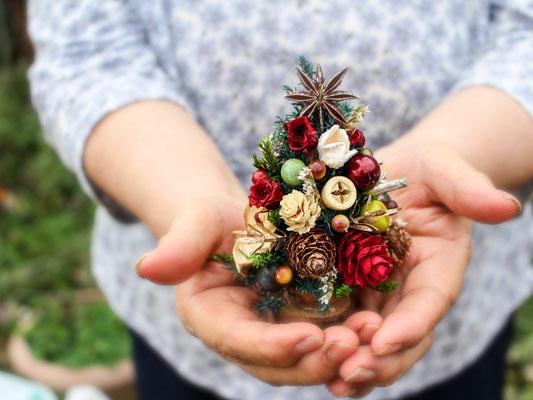 クリスマスミニデコレーション Minitreeクルミのミニミニツリー