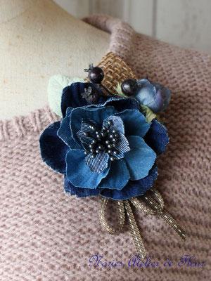 Denim-corsage  Melissa メリッサ IndigoBlue