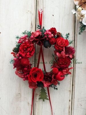 クリスマスミニデコレーション Jewels 木の実のミニリース