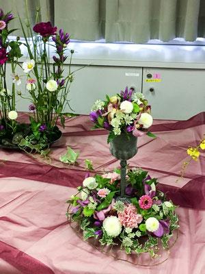 生花作品 「ウェディング・ゲストテーブルの花」