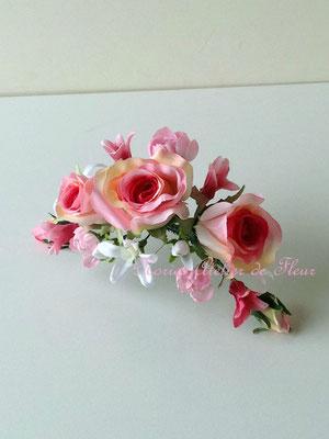 Hearty ハーティ おそろいの花材の成形タイプのヘアオーナメント