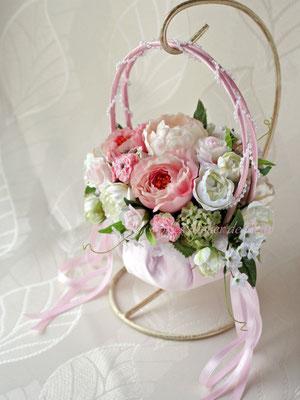 Clara クララ ピンクのバッグ型ブーケ