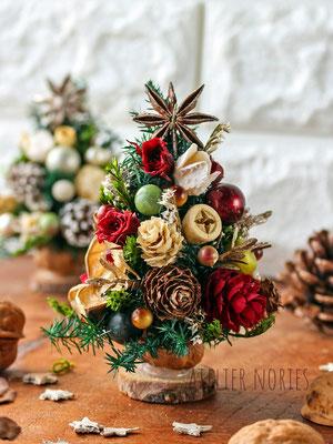 クリスマスミニデコレーション Minitree クルミのミニミニツリー
