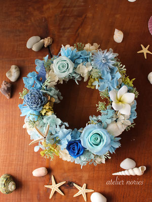 Mermaid マーメイド 海と空のブルーのリース