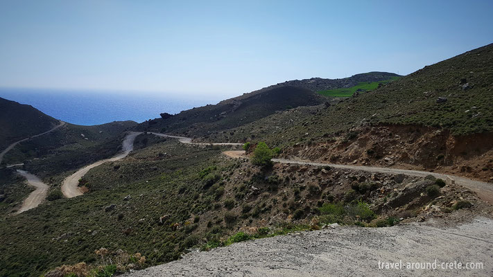 Road to Preveli Beach (east side)