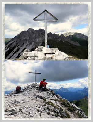 am monte san daniele, 2.229m  u. cdrode dei longerin cima sud, 2.523m