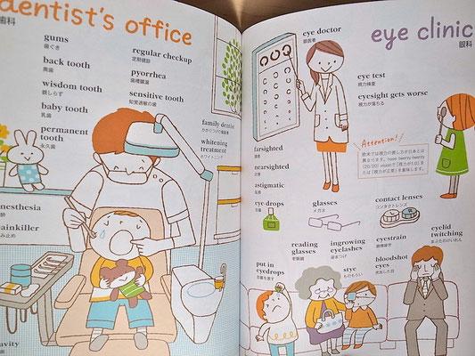 パッと見てわかる!英単語イラストブック(ナツメ社)のイラストを担当しました。2014年