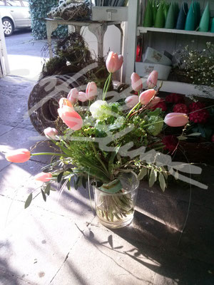 Beerdigungsstrauss Tulpen Einfach Blume