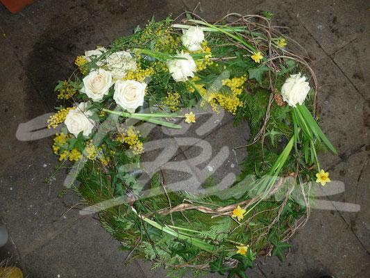 Trauerkranz minimalistisch Einfach Blume