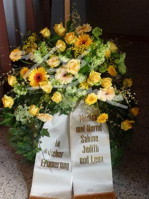 Trauerkranz Klassisch Gelb Einfach Blume