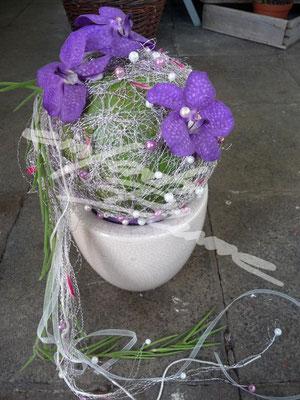 Kugel Brautstrauss Einfach Blume