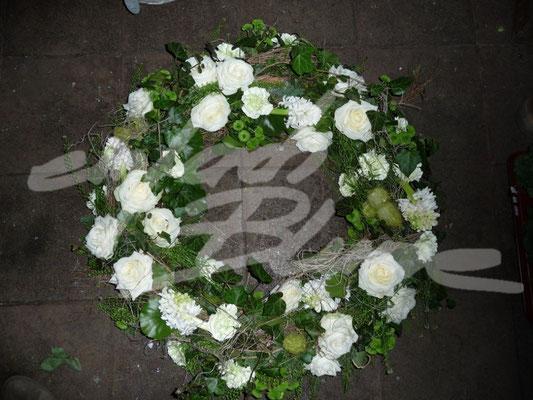 winterlicher Trauerkranz Einfach Blume