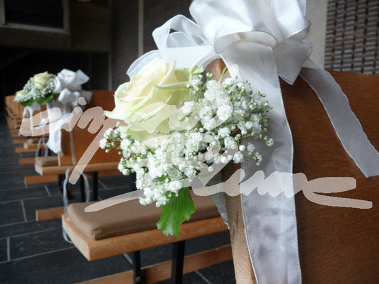 Kirchenbank Schmuck Einfach Blume