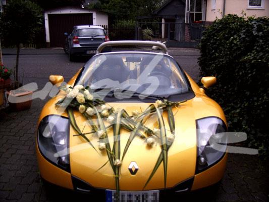abstrackte Hochzeitsautodeko Einfach Blume