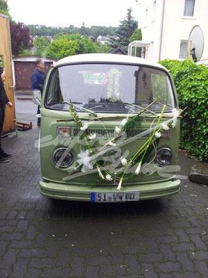 VW Bus Hochzeitsschmuck Einfach Blume
