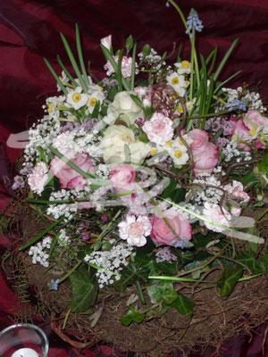 Trauer Pflanzung mit Steckblumen Einfach Blume