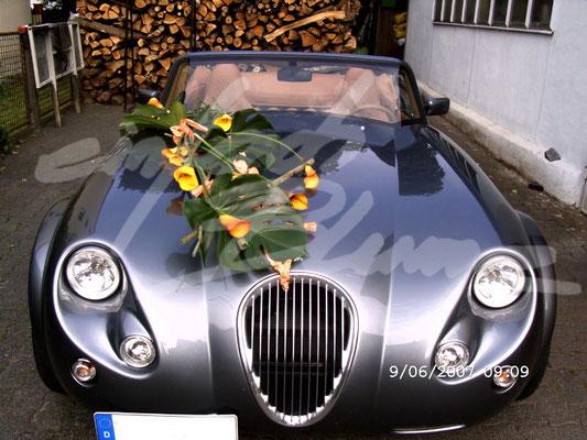 Hochzeitsautodeko Modern Einfach Blume