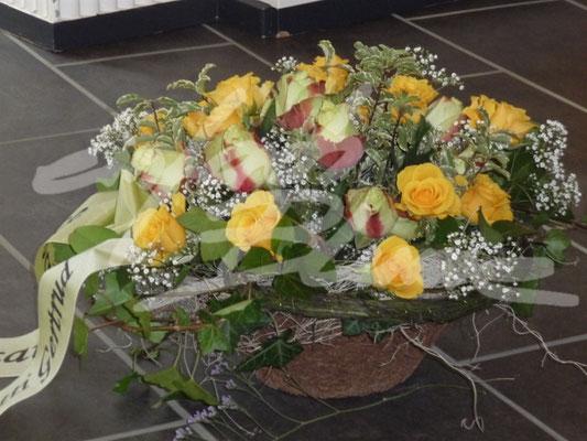 Trauergesteck Gelb Einfach Blume