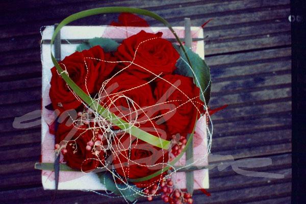 Rosen Hochzeitsgesteck Einfach Blume