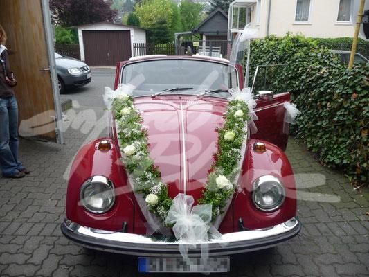 Oldtimer rot V-Hochzeitsschmuck Einfach Blume