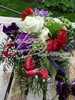 Bunter Brautstrauss Einfach Blume