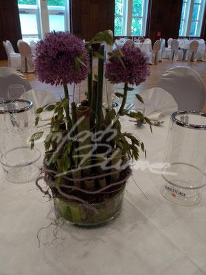 Hochzeitstischdeko Alium Einfach Blume